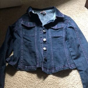 Little MissMatched dark denim jacket sz S